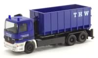 THW ModelleMercedes-Benz Actros Abrollcontainer   Herpa