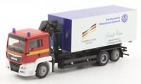 THW ModelleMAN TGS L Abrollcontainer WLF Berlin Herpa